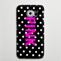 Pink Polka iPhone 6 Galaxy s6 Edge Case Galaxy s6 Case Samsung Galaxy Note 5 Case s6-087