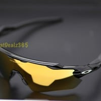 NEW CUSTOM OAKLEY RADAR EV, POLISHED BLACK FRAME, 24K GOLD IRIDIUM PATH LENS