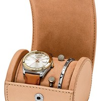 Women's Fossil 'Perfect Boyfriend' Boxed Watch & Bangles Set, 39mm