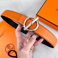 Hermes new lychee smooth buckle belt