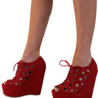 Pep In Your Step Wedges: Red