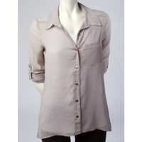 Tabbed High Low Shirt