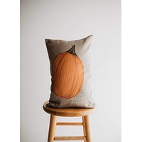 Primitive Fall Pumpkin Lumbar Pillow Cover | 18x12 Thanksgiving Décor