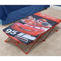 Disney Pixar Cars Kids Size Portable Camping Hiking Outdoor Travel Cot Bed