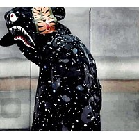 Aape Bape Star Shark Mouth Ape Head Hooded Slim Casual Jacket M Xxl