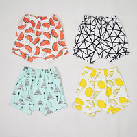 Brand Cotton Baby Kids Shorts 2016 Children Summer Harem Short Pants For Boys Girls Toddler Casual Clothing 6 Months - 4 Years