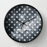 Polka Universe Wall Clock by Paula Belle Flores