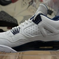 "Nike Air Jordan 4 Retro LS ""Columbia"" White/Legend Blue Basketball Sneaker 314254-107"