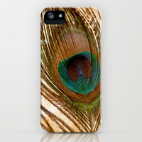 Peacock Feather iPhone Case by Ally Coxon