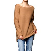 Oversized Knit Sweater, Taupe
