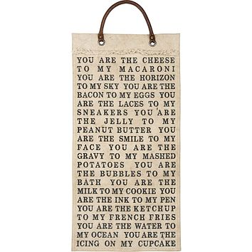 You Are The Cheese To My Macaroni Wall Banner