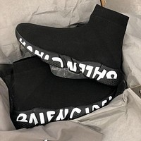 Balenciaga Hot Sale Color Block Knitted High Top Socks Shoes Sneakers-6