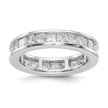 3 Ct. Channel Set Princess Cut Diamond Eternity Wedding Band Ring 14k White Gold