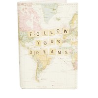 ASOS Passport Holder With Follow Your Dreams Map Print