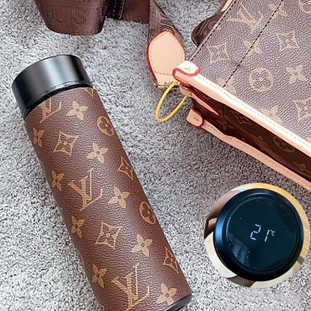 Image of LV Louis Vuitton Intelligent Digital Display Water Cup Temperature Measuring Thermos 304 Stainless Steel Male And Female Filter Tea Cup Thermos