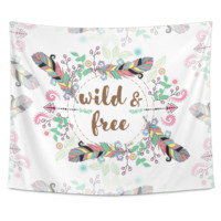 Wild and Free Tapestry Wall Hang