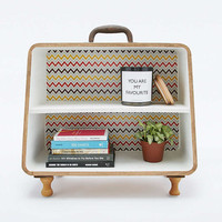 Pattern Suitcase Shelf - Urban Outfitters