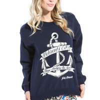 Hope Anchor Navy Sweatshirt