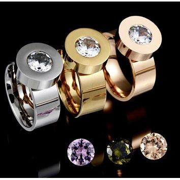 Ladies changeable Stainless Steel CZ Ring