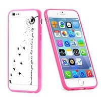 Popular Apple iPhone 6 or 6s Dandelion Quote Cute Gift for Teens TPU Bumper Case Cover Mobile Phone Accessories Hot Pink