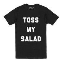 Toss My Salad-Unisex Black T-Shirt