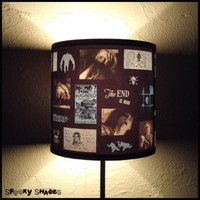 Blue Horror Lamp Shade by SpookyShades on Etsy