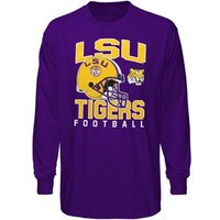 LSU Tigers Big Time Oversized Football Long Sleeve T-Shirt - Purple