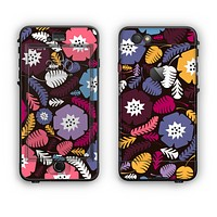 The Colorful Hugged Vector Leaves and Flowers Apple iPhone 6 LifeProof Nuud Case Skin Set