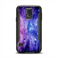The Purple and Blue Scattered Stars Samsung Galaxy S5 Otterbox Commuter Case Skin Set