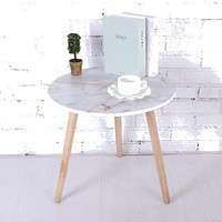 Mix White Luxury  Wooden Round Multi Function Table
