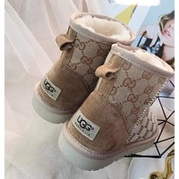 """""""UGG""""""""GUCCI""""Fashionable uggs, woolly mid-cylinder, thickened non-slip snowshoes, ladies"""
