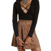 Strappy Deep V Crop Top by Charlotte Russe