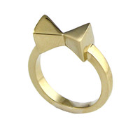 """Boy Meets Girl® x Roman Luxe """"Happy"""" Little Bow Pinky Ring"""