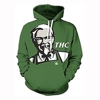 Newest THC 3D Sublimation KFC X 420 Print Hoody/Hoodies Men/women Sweatshirts Unisex Pullovers Plus Size 6XL Hooded Clothing