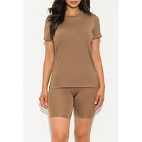 Chill Out Set Round Neck Mocha