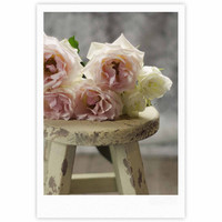 "Cristina Mitchell ""Roses on Stool"" Floral Photography Fine Art Gallery Print"