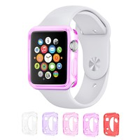 Eco-Fused TPU Case Value Bundle for 38mm Apple Watch / Watch Sport / Watch Edition / Including 5 Flexible TPU Cover Cases for all Apple Watch Versions / Including Microfiber Cleaning Cloth