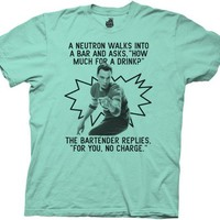 The Big Bang Theory Neutron Walks Into A Bar Tahiti Blue/Green Mens T-shirt