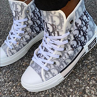 DIOR B23 hot sale letter print high top ladies sneakers casual shoes