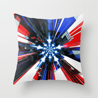 USA Tech Flag Throw Pillow by Emiliano Morciano (Ateyo)