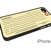 Evidence Tag Phone Case for for Apple iPhone and Samsung Phones