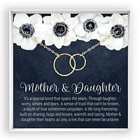 Mother & Daughter  Linked Circles Necklace