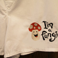 Mens Boxer Shorts, Embroidered Boxer Shorts, Mens Underwear, Mens Clothing, Mushroom, Fungi Boxer Shorts, Cute Boxer Shorts, Mens Boxers