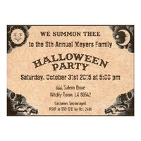 Ouija Invitation for a Halloween Party