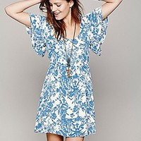 Good Karma Flutter Sleeve Dress