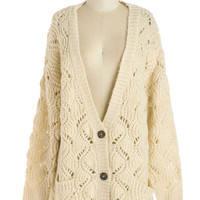 ModCloth Mid-length Long Sleeve Au Revoir We There Yet? Cardigan