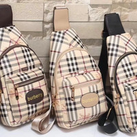 shosouvenir Burberry Women Leather Backpack Bookbag Daypack Satchel