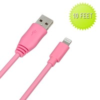 iPhone 6 Plus 5.5 10 Ft Long USB Lightning Charger Cables Many Colors
