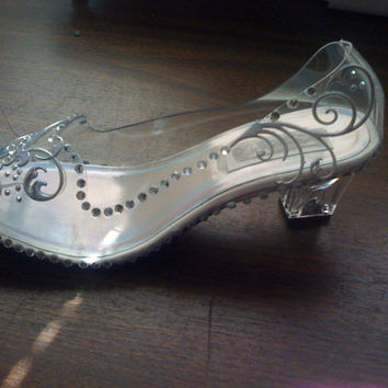 Cinderella Sparkly Couture Style Adult Costume Pair Slippers Dress Shoes Custom Made