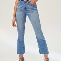 BDG Kick Flare High-Rise Cropped Jean - Stone Bleach | Urban Outfitters